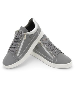 Cash Money Men Sneakers Reflect Grey White - CMS97 - Grey