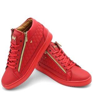 Cash Money Men Sneakers Jailor Full Red - CMS98 - Red