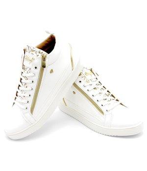 Cash Money Men Trainers Majesty White Gold - CMS98 - White