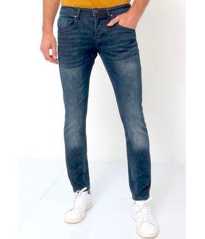 True Rise Stretch Denim Jeans Men's - D-3059 - Blue