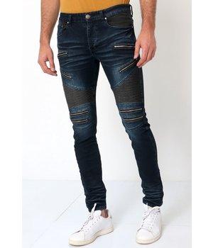 True Rise Mens Biker Jeans Slim Fit - 3025 - Blue