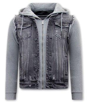 Enos Denim Hoodie Jacket Men's - RJ9102 - Black