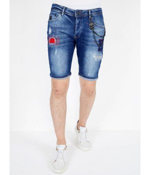 Local Fanatic Designer Jeans Shorts - 1041 - Blue