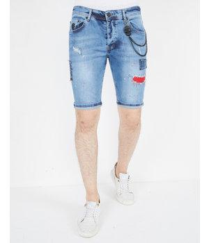 Local Fanatic Cool Denim Shorts For Men - 1042 - Blue