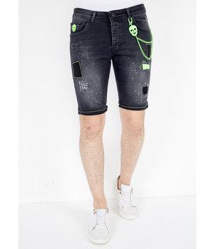 Local Fanatic Italian Designer Mens Shorts - 1045 - Black