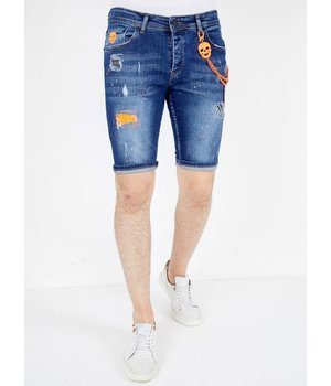 Local Fanatic Ripped Jeans Shorts - 1049 - Blue