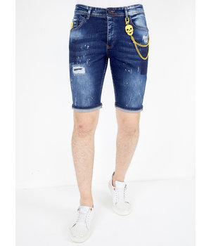 Local Fanatic Denim Mens Shorts Ripped - 1052 - Blue