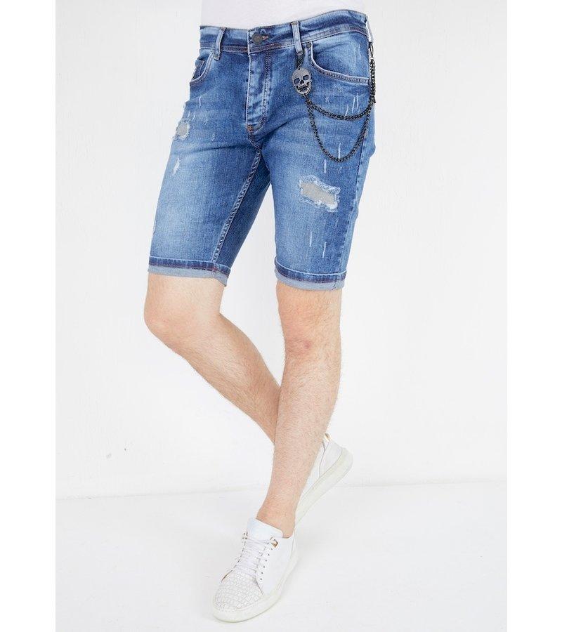 Local Fanatic Slim Fit Jeans Shorts Mens - 1054 - Blue