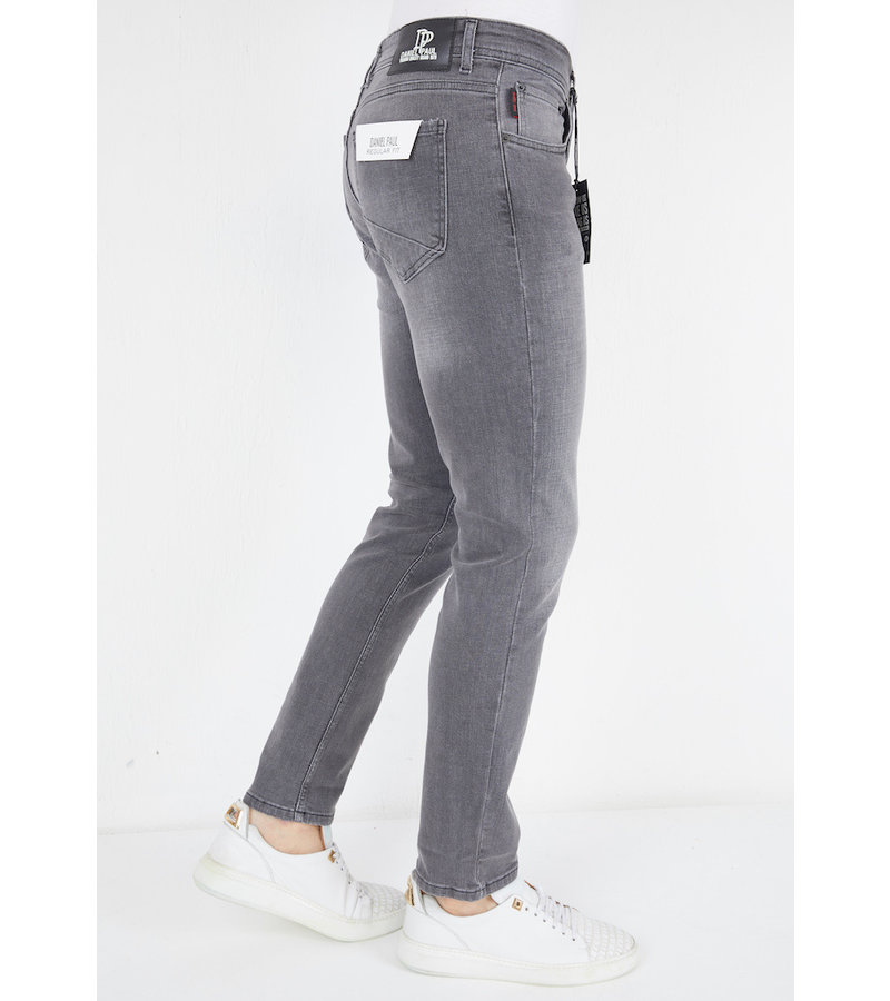 True Rise Men's Straight Fit Jeans - A61.G - Grey