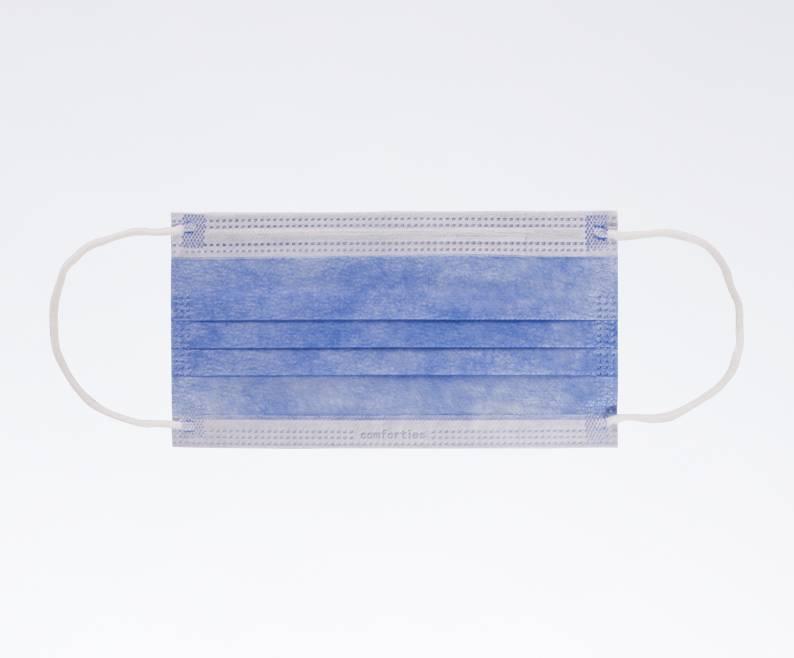 Comforties Mondmasker blauw (elastiek)