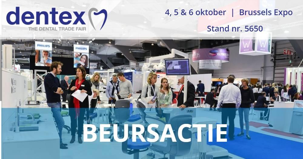 4, 5 & 6 OKTOBER BEURSACTIE - DENTEX BRUSSEL (OOK GELDIG IN DE WEBSHOP)