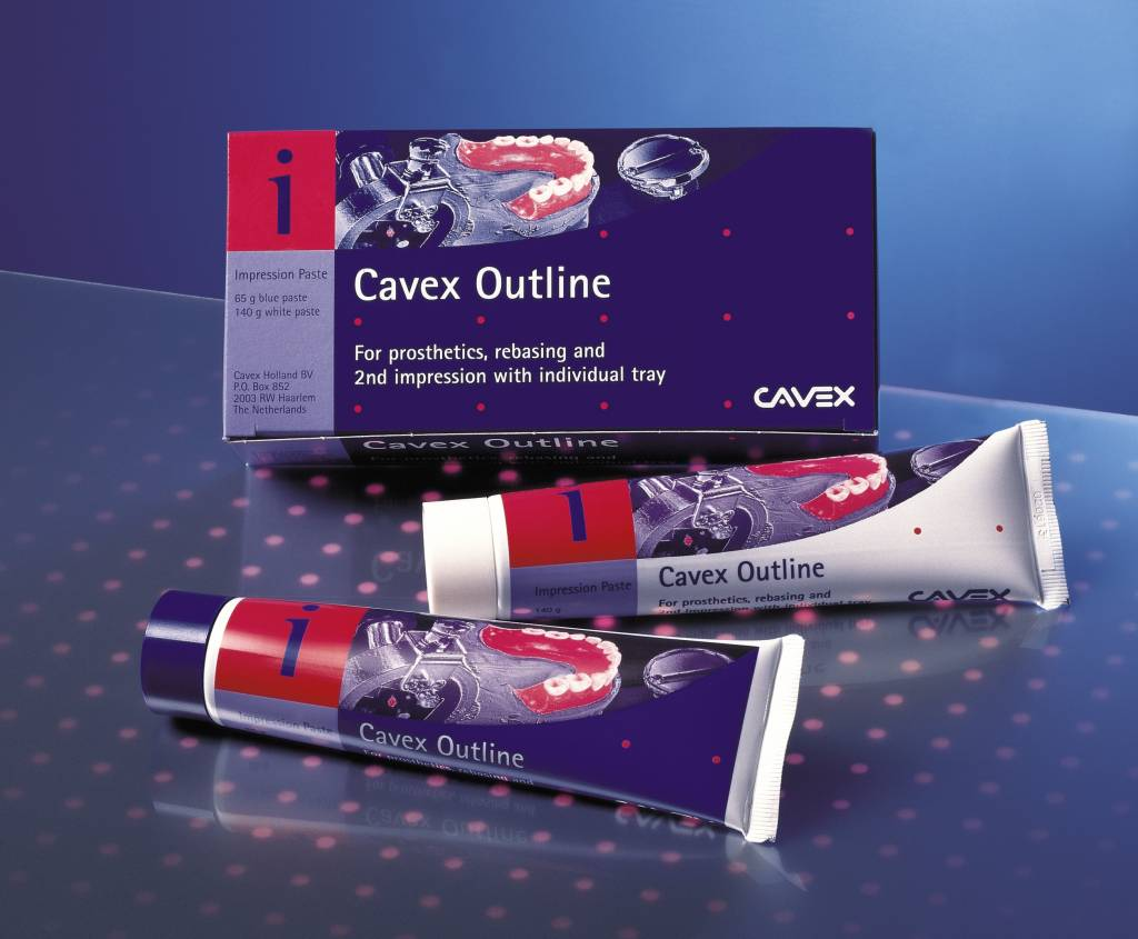 Cavex Outline 2 tubes (wit/blauwe pasta)