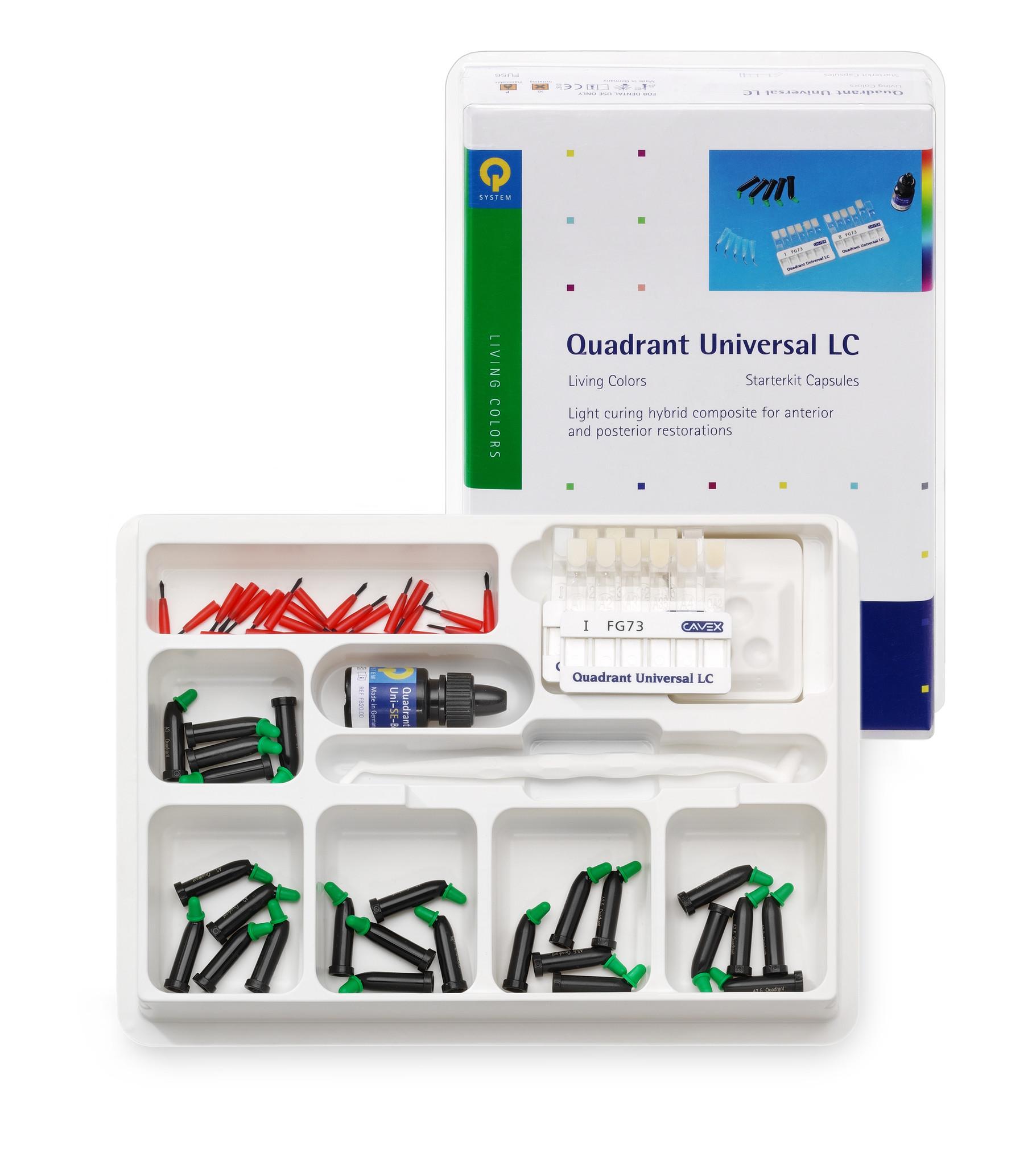Cavex Quadrant Universal LC starterskit capsules inclusief Uni-SE-Bond