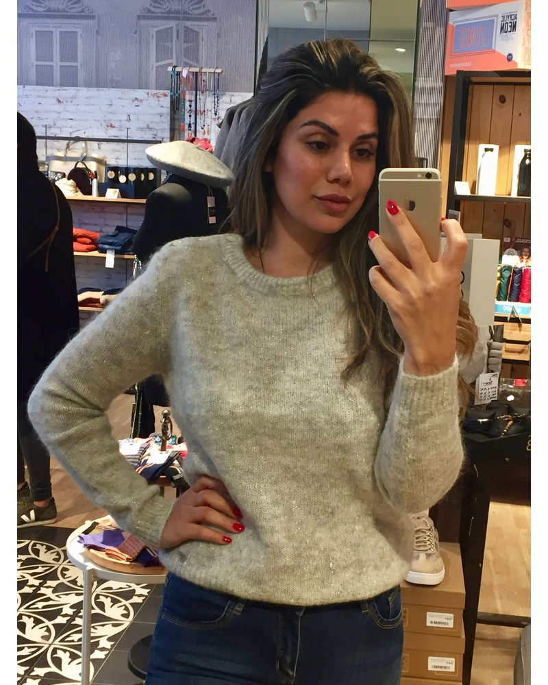 ORFEO Pull Cerise gris claire