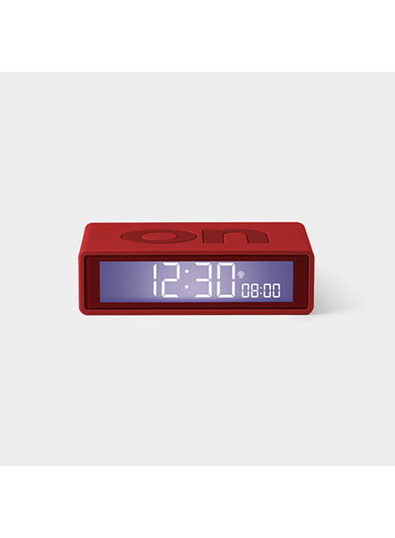 Lexon FLIP Clock Red