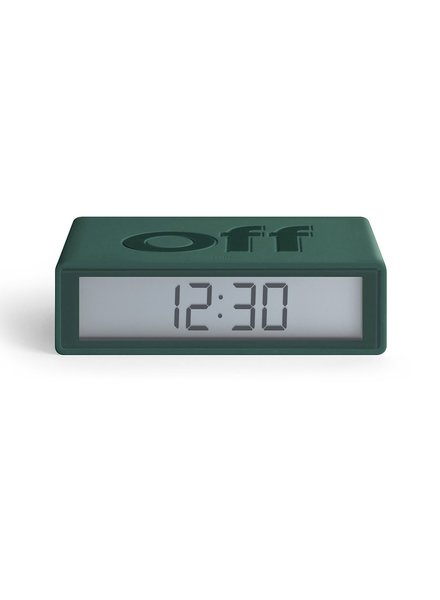 Lexon FLIP Clock Dark Green