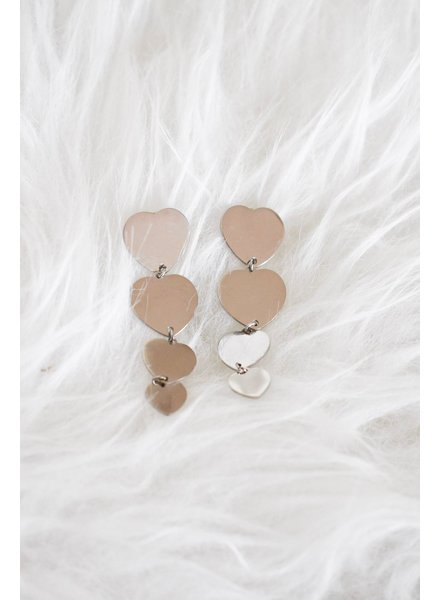 PINK GIN Selection EARRINGS Heart Beat