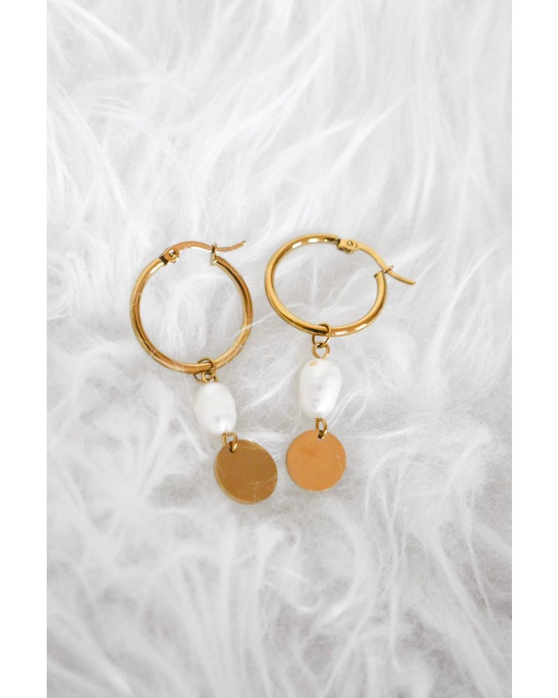 PINK GIN Selection EARRINGS Marie Perle Fine Gold
