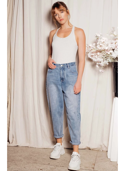 FAM Lily Ballon cropped Blue jeans