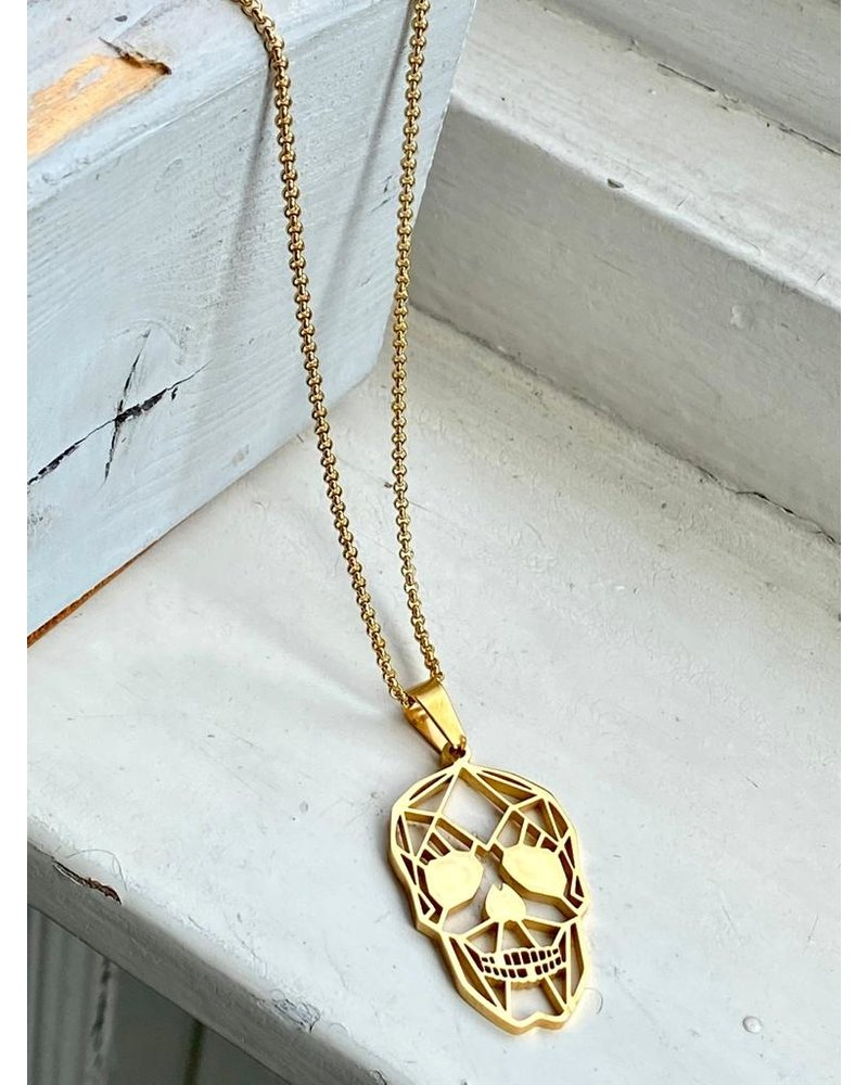 PINK GIN Selection NECKLACE Skull