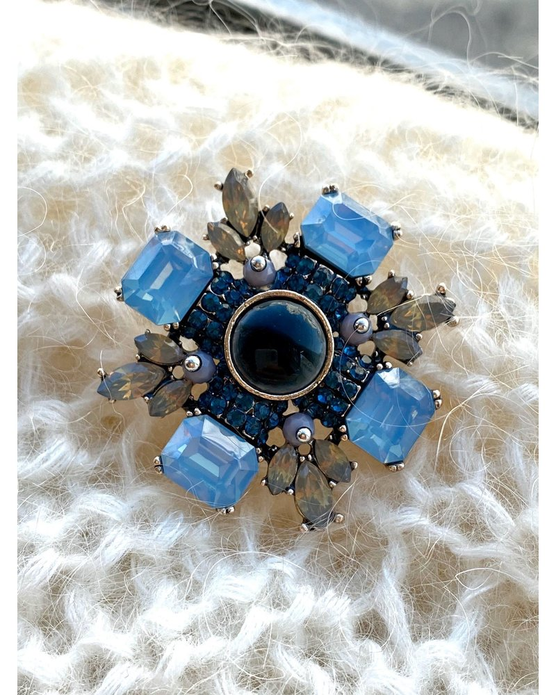 PINK GIN Selection BROCHE Constance Blue
