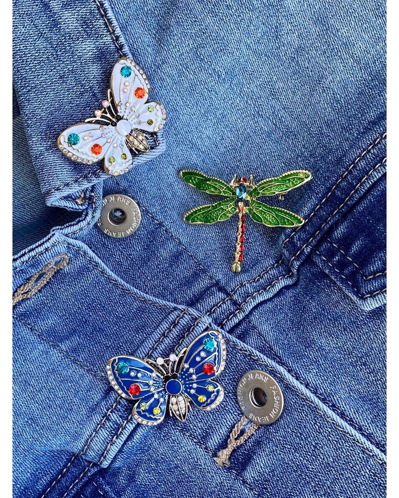 PINK GIN Selection BROCHE Papillon