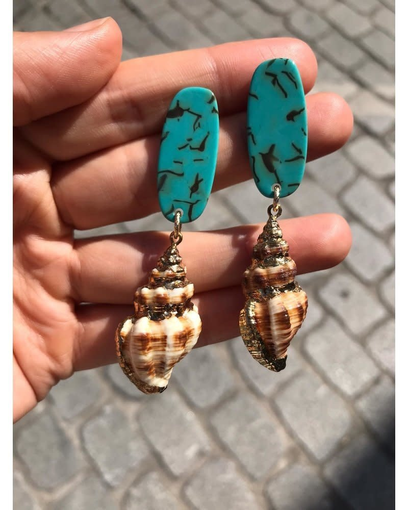 PINK GIN Selection EARRING Seashell