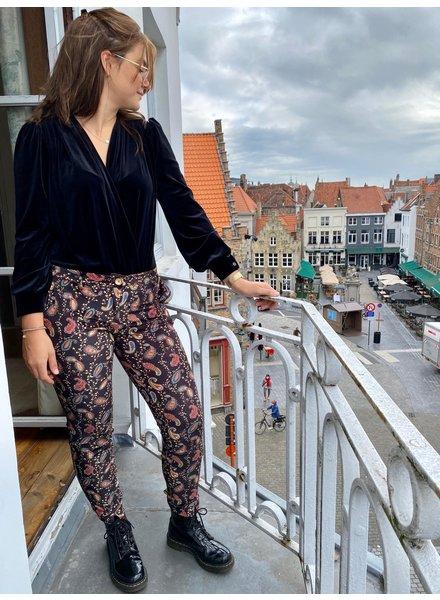 IMPREVU Pantalon Velour Print