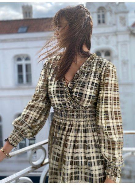 IMPREVU Robe Courte Lurex Luxe