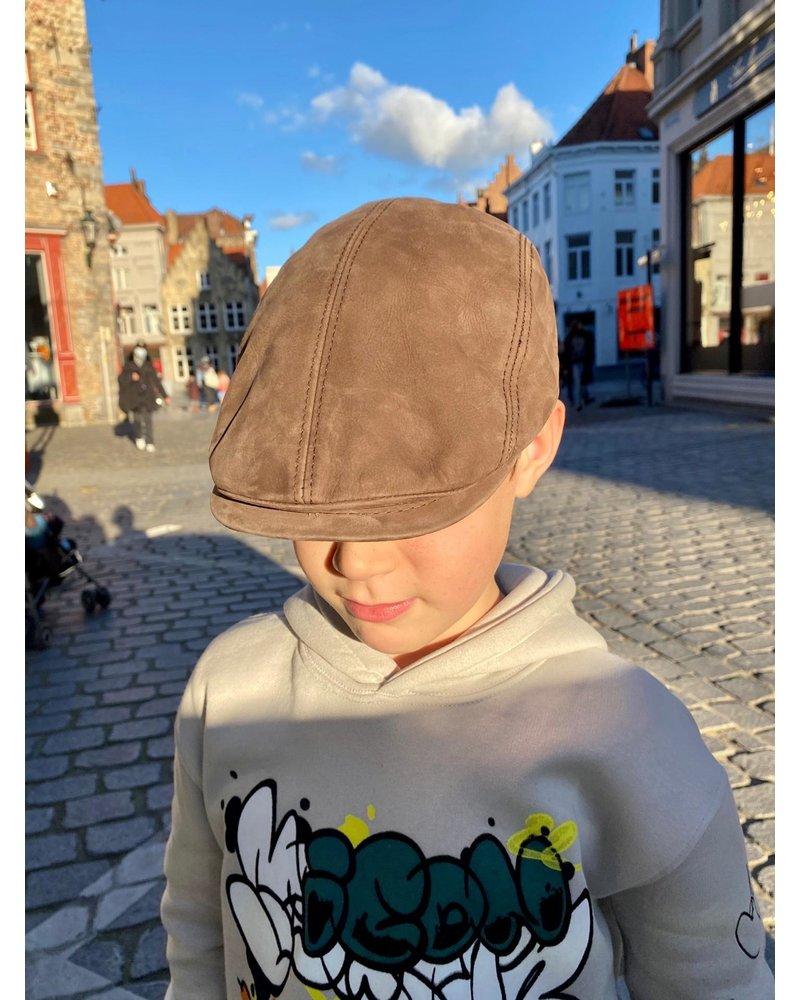 PINK GIN Selection CAP KAMIEL Suède leather