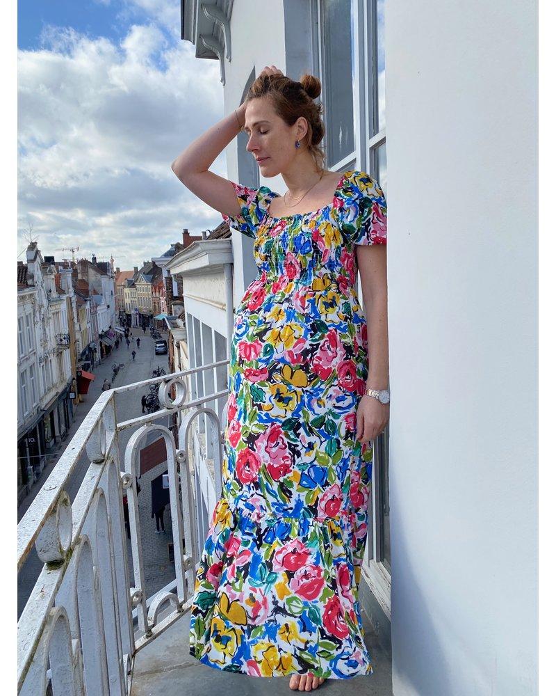 IMPREVU IMPREVU Maxi Dress Cartoon Flower
