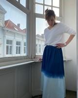 IMPREVU SS2021 IMPREVU Maxi Skirt Denim Tie & Dye