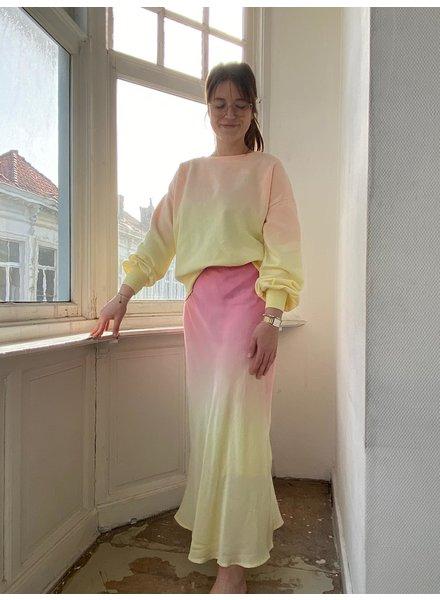 IMPREVU SS2021 IMPREVU Maxi Skirt Degrade Yellow