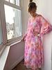 IMPREVU SS2021 IMPREVU Maxi Dress Soie Painted Flower Corail