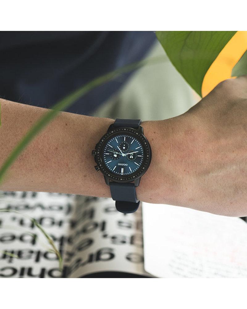 OOZOO smartwatch straps - Dark blue/black