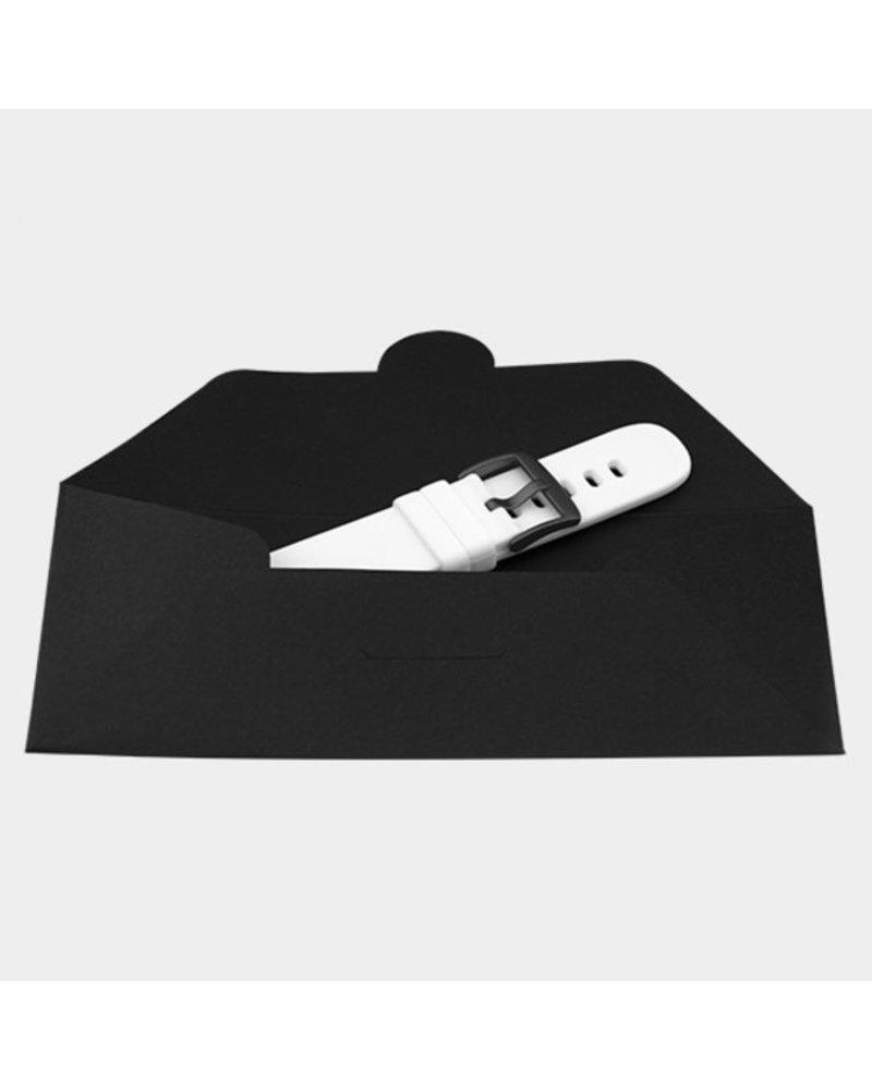OOZOO smartwatch straps - White/black
