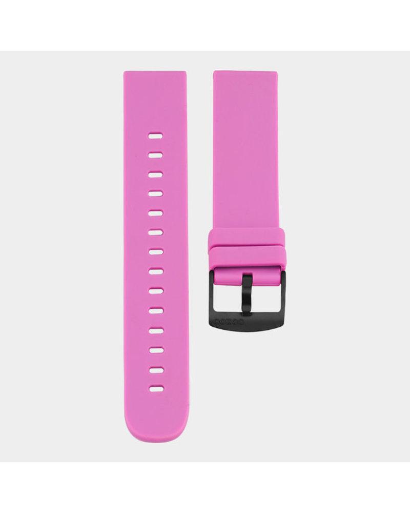 OOZOO smartwatch straps - Raspberry pink/black