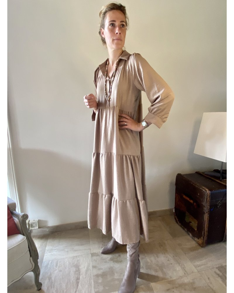 PINK GIN Selection FW21/22 Dress Loulou TAUPE