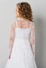 Mädchen Bolero aus Spitze mit Pailletten in weiß oder creme