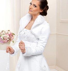 Satin Brautjacke warm Bolero Hochzeit
