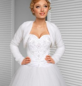 Brautjacke Fell Bolero Winter Hochzeit