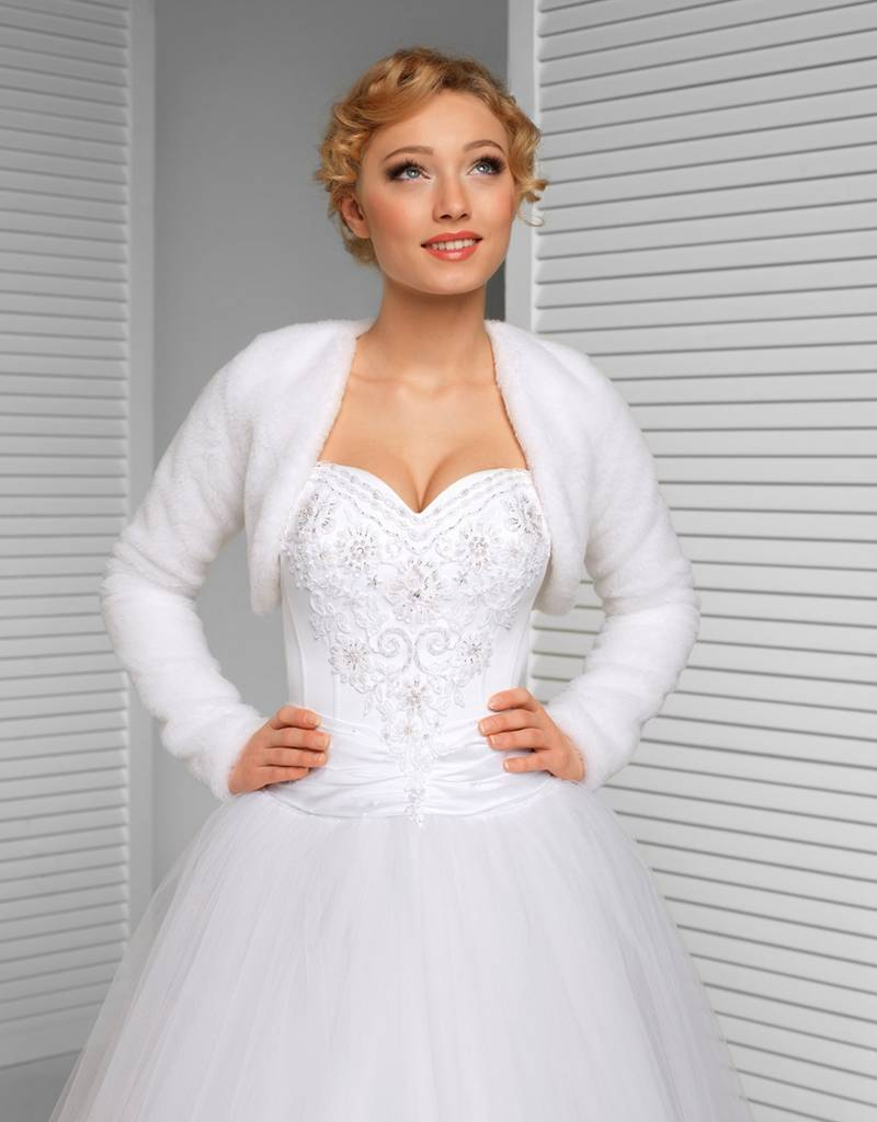 Brautjacke aus Fellimitat