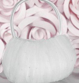 Brauttasche mit Tüll und Strassseinen