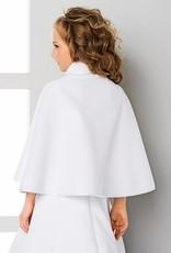 Kommunionjacke Umhang aus Fleece in weiß oder creme