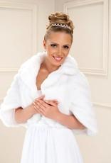 Brautjacke Stola zum Brautkleid aus Fellimitat
