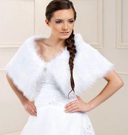 Warme Brautstola Umhang aus Fuchsfell