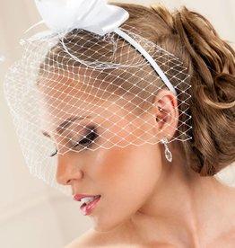 Haarreifen für Hochzeit mit Netzschleier
