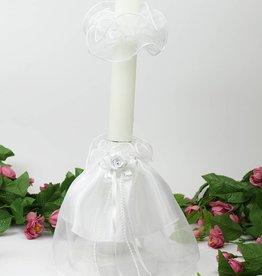Kerzenrock mit Tropfschutz Kommunionkerze