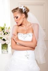 Brautkontor Kommunionkleider, Schleier, Braut Boleros Schleier mit Strass Steinen aus Softtüll