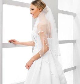 Brautschleier mit Stäbchenkante